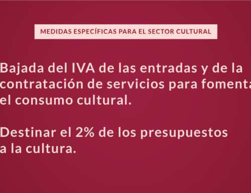 Medidas específicas para el sector cultural